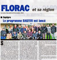 Lancement de Sagiter à Florac